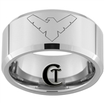 10mm Beveled Tungsten Carbide Nightwing Design