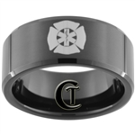 10mm Black Beveled Tungsten Carbide Medical Design