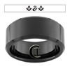 10mm Black Beveled Tungsten Carbide Marines Masonic Design.