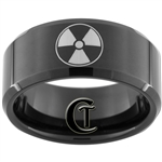 10mm Black Beveled Tungsten Carbide Radiation Design