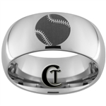 10mm Dome Tungsten Carbide Baseball Design