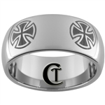 10mm Dome Tungsten Carbide Maltese Cross Design