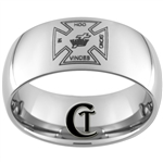 10mm Dome Tungsten Carbide Masonic Cross Design