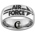 10mm Dome Tungsten Carbide Air Force Jet Logo Design.
