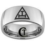 10mm Dome Tungsten Carbide Masonic Design