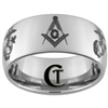 10mm Dome Tungsten Carbide Masonic and Marines Design.