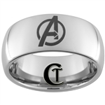 10mm Dome Tungsten Carbide Avengers Design