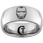 10mm Dome Tungsten Iron Man Ring