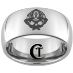 10mm Dome Tungsten Carbide 911 Firefighter Commemorative Design