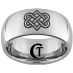 10mm Dome Tungsten Carbide Celtic Love Knot Design