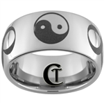 10mm Dome Tungsten Carbide Yin Yang Infinity Design