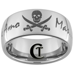 Build Your Own Custom 10mm Dome Tungsten Carbide Pirate and Phrase Design