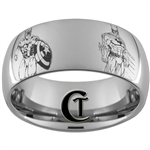 10mm Dome Tungsten Carbide Superheroes Design