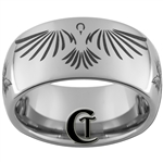 10mm Dome Tungsten Carbide Phoenix Angel Design.