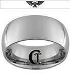 10mm Dome Tungsten Carbide Warhammer 40K Double Aquila Eagle  Design Ring.