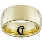 10mm Gold Dome Tungsten Carbide Ring