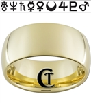 10mm Gold Dome Tungsten Sailor Moon Ring