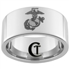 10mm Pipe Tungsten Carbide Marines Eagle Globe and Anchor Design Ring.
