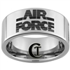 10mm Pipe Tungsten Carbide  Air Force 80's Logo Design.