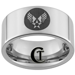 10mm Pipe Tungsten Carbide U.S. Army Air Force Patch Design Ring.