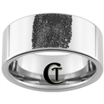 10mm Pipe Tungsten Carbide Fingerprint Design