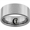 10mm Pipe Tungsten Carbide NAVY Anchor Design Ring.