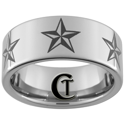 10mm Pipe Tungsten Carbide Nautical Star Design