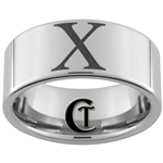 10mm Pipe Tungsten Carbide Roman Numeral X Design