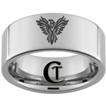 10mm Pipe Tungsten Carbide Phoenix Design Ring.