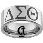 10mm Pipe Tungsten Carbide Greek Fraternity Sorority Design