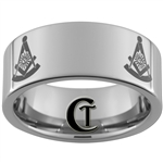 10mm Pipe Tungsten Carbide Masonic Design
