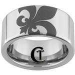 10mm Pipe Tungsten Carbide Fleur De Lis Design