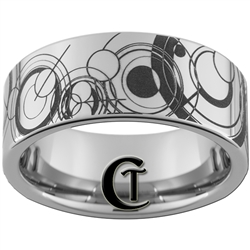 10mm Pipe Tungsten Carbide  Doctor Who Gallifreyan Design.