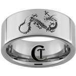 10mm Pipe Tungsten Carbide Lasered Dragon Ring Design