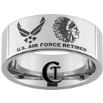 10mm Pipe Tungsten Carbide U.S. Air Force Indian Chief Design.