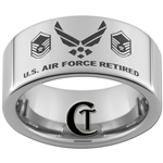 10mm Pipe Tungsten Carbide U.S. Air Force Retired U.S. Air Force Retired Master Sergeant Ring Design.