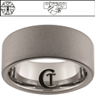 10mm Pipe Tungsten Carbide Military White Laser Custom Design Ring.