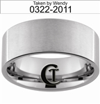 10mm Pipe Tungsten Carbide Custom Duck Band Design