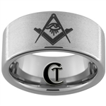 10mm Pipe Tungsten Carbide Masonic Ring Design