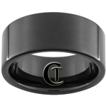10mm Black Pipe Tungsten Carbide Ring
