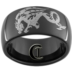 11mm Black Dome Tungsten Carbide Dragon Design