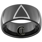 11mm Black Dome Tungsten Carbide Celtic Triangle Design