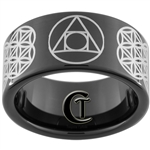 11mm Black Pipe Tungsten Carbide Alchemy Design