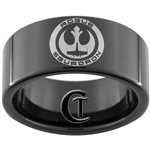 11mm Black Pipe Tungsten Carbide Star Wars Rebel Alliance Rogue Squadron Design