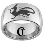 12mm Dome Tungsten Carbide Dragon Design