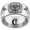 12mm Dome Tungsten Carbide Masonic 32nd Degree Design