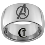 12mm Dome Tungsten Carbide Avengers Design