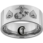 12mm Pipe Tungsten Carbide MARINES Symbol & Staff Sergeant Design.