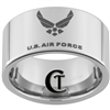 12mm Pipe Tungsten Carbide Air Force Logo Design.