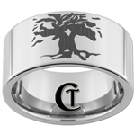 12mm Pipe Tungsten Carbide Tree of Life Design